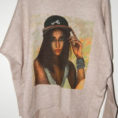 Bluze dama Fashion din Casmir 100%. - Bluza dama, Marime: Marime universala, Culoare: Bej, Maneca lunga