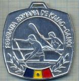 ATAM2001 MEDALIE 346 - SPORTIVA - FEDERATIA ROMANA DE KAIAC-CANOE - CONCURSUL REPUBLICAN -MARE FOND 1989 - LOCUL II -starea care se vede