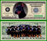 USA 1 Milliom Dollars Caine Doberman UNC