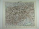 HARTA VECHE - ALPII TIROLEZI - DIN STIELERS HAND ATLAS - 1928/9