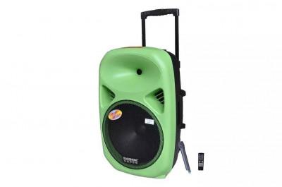 BOXA ACTIVA PROFESIONALA CU MIXER SI MP3 PLAYER STICK USB,CARD,ACUMULATOR,EFECTE VOCE,TELECOMANDA SI MICROFON WIRELESS,SUNET HI FI. foto