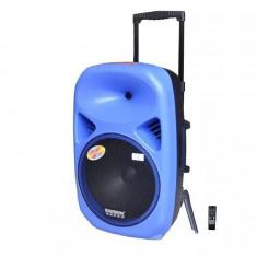 NOU! SISTEM KARAOKE PROFESIONAL BOXA ACTIVA 12 INCH CU MP3 PLAYER STICK USB,CARD,TELECOMANDA SI MICROFON WIRELESS INCLUS,450 WATT P.M.P.O,SUNET HI F.