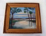 Cumpara ieftin Pictura veche realizata in ulei pe placaj