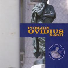 Moneda  argint 5 lei 2008 Publius Ovidius Naso + Cutie originala BNR