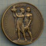 ATAM2001 MEDALIE 409 - SPORTIVA - MAGYAR FOISKOLAI SPORTEGYLETEK EGYESULESE(Asociația Maghiară de Colegiul Breslelor Sport) - 1907- starea se vede