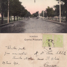 Barlad (Vaslui) - O vedere din Bulevardul Paladi - rara - Carte Postala Moldova pana la 1904