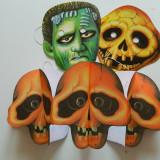 Set de 4 produse pentru copii, Halloween, deghizare de Halloween, schelet masca
