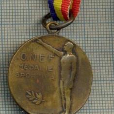 ATAM2001 MEDALIE VECHE 431 - O.N.E.F.(ORGANIZATIA NATIONALA DE EDUCATIE FIZICA) - MEDALE SPORTIVA (SALUTUL NAZIST ?)-starea care se vede - Medalii Romania