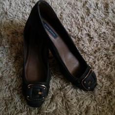 Vand pantofi de dama, Zara - Pantof dama Zara, Culoare: Bleumarin, Marime: 41, Piele sintetica, Bleumarin