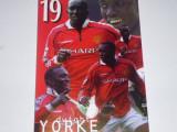Carte postala fotbal-foto Dwight YORKE (Anglia,Manchester United)