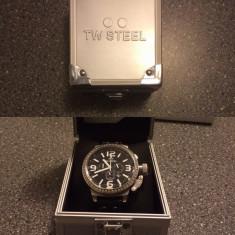 TW STEEL TW9 - Ceas barbatesc TW Steel, Otel, Piele