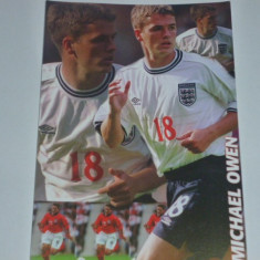 Carte postala fotbal-foto Michael OWEN (Anglia, Liverpool, Real Madrid, Newcastle, Manchester United, Stoke City)