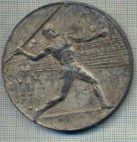 ATAM2001 MEDALIE VECHE 414 - SPORTIVA - INTRECERE ATLETICA ROMANIA -BULGARIA - SOFIA 1951 -SCRIERE SLAVA -starea care se vede