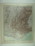 HARTA VECHE - ALPII DE VEST - DIN STIELERS HAND ATLAS - 1928/9