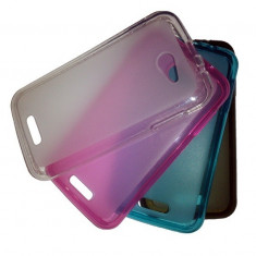 Husa ALLVIEW A6 Quad TPU Transparenta Grey - Husa Telefon Allview, Gel TPU, Fara snur, Carcasa