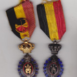 Bnk md Belgia - Medalia Muncii - Cls 1 si 2 - Medalii Romania