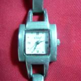 Ceas Elite -Japonia movement Quartz de dama, carcasa si bratara -metal argintat - Ceas dama, Analog