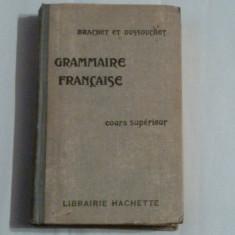 BRANCHET et DUSSOUCHET - GRAMMAIRE FRANCAISE cours superieur Ed.veche - Carte in franceza