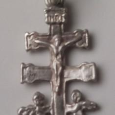 VECHE CRUCIULITA CHIRILICA DIN ARGINT. - Crucifix