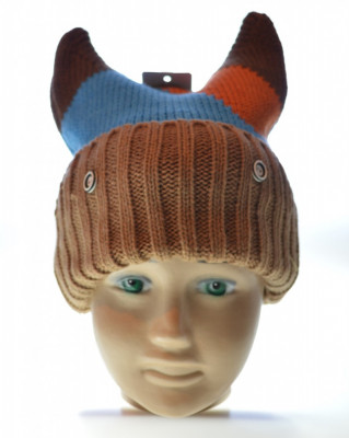Caciula copii 100% lana, model vesel foto