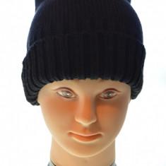 Caciula neagra femei cu tinte 100% lana - Caciula Dama, Culoare: Negru, Marime: Alta