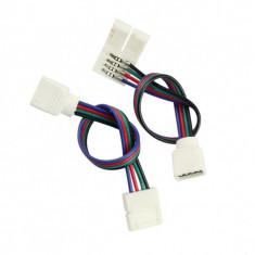 CONECTOR - CONECTOR CU FIR BANDA LED RGB 4 PINI 10MM 5050 PCB FPC