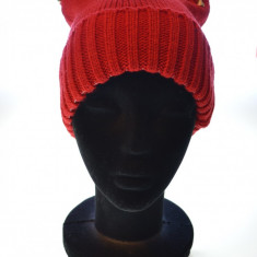 Caciula femei cu tinte 100% lana, Rosu
