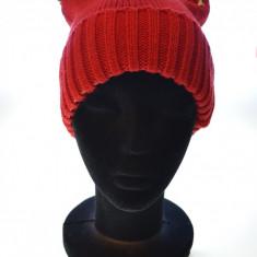 Caciula femei cu tinte 100% lana - Caciula Dama, Culoare: Rosu, Marime: Alta, Rosu