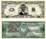 USA 1 Million Dollars Obama Commander UNC