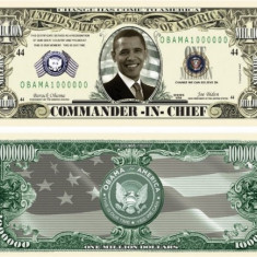 USA 1 Million Dollars Obama Commander UNC