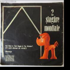 2 slagare mondiale, disc vinil/vinyl Electrecord. 45-STM-EDC 10.555; Formatia Super Grup Electrecord, dirijor-Dan Mandrila - Muzica R&B