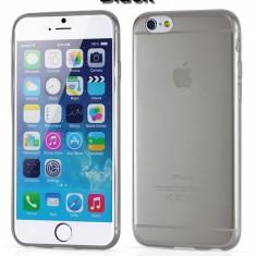 Husa transparenta iPhone 6 si folie ecran cadou - Husa Telefon Apple, iPhone 6/6S, Negru, Gel TPU, Carcasa