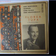 Florea Tupa, disc vinil/vinyl single Electrecord, EPC 10.088 - Muzica Lautareasca