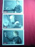 Set 3 Ilustrate Da Vinci Learning - Galilei , M.Curie , Edison , cu o cugetare