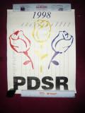 Afis Calendar Politic PDSR , dim.= 40x50 cm