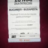 Afis - Intrecere Bucuresti -Budapesta- 15 minute Miscare in fiecare zi