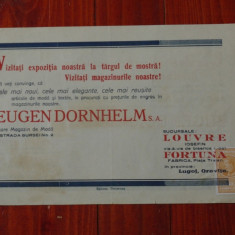 Reclama interbelica Timisoara - reclama tiparita in limba Romana si Germana !!!