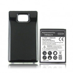 Baterie extinsa 3500 mAh Samsung Galaxy S2 i9100 + capac spate negru + folie - Baterie externa