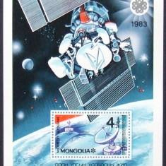 MONGOLIA 1983 - INTERCOSMOS 1 S/S, NEOBLITERATA - MG 140, Spatiu