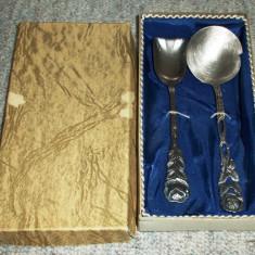 Set tacamuri - desert / servire - argintate + marcate - 1959