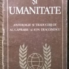 Carte - Poezie si umanitate - Antologie si traducere de Al. Caprariu si Ion Deaconescu