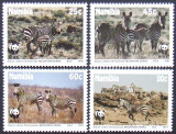 NAMIBIA 1991 - ZEBRE  4 VALORI, NEOBLITERATE - AS 087