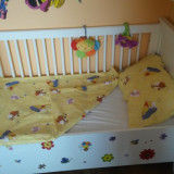 Patut lemn - Patut lemn pentru bebelusi, 120x60cm, Alb