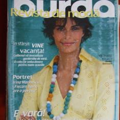 REVISTA MODA CU TIPARE ,  BURDA  , NR. 6 / 2006
