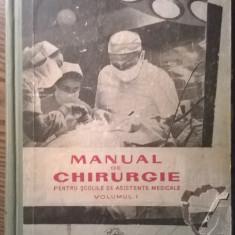 Carte - Manual de chirurgie - Pentru scolile de asistente medicale - Volumul I - Carte Chirurgie
