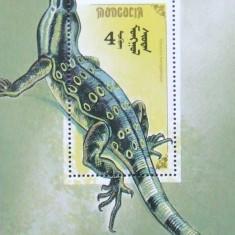 MONGOLIA 1991 - IGUANA 1 S/S, NEOBLITERATA - MG106