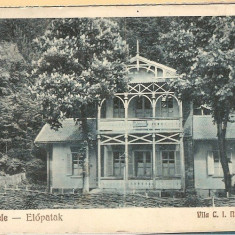 Covasna, comuna Valcele, circulata, 1929, casa I.C. Nastasescu - Carte Postala Transilvania dupa 1918, Fotografie