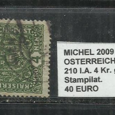 AUSTRIA 1917-19 - 210 l.A. 4Kr.