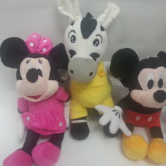 MICKEY MOUSE, MINIE MOUSE si Zebra Zu DIN CLUB HOUSE MICKEY DISPONIBILE IN VARIANTA MEDIE 30 CM - Jucarii plus Disney