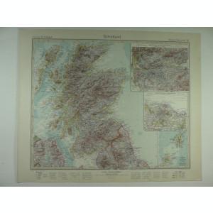 HARTA VECHE - SCOTIA - DIN STIELERS HAND ATLAS - ANUL 1928